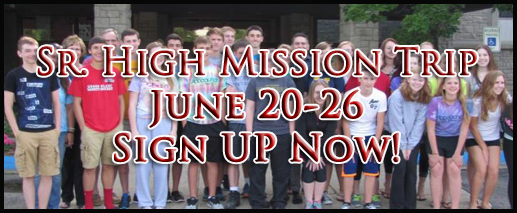 Sr. High Mission Trip 2015